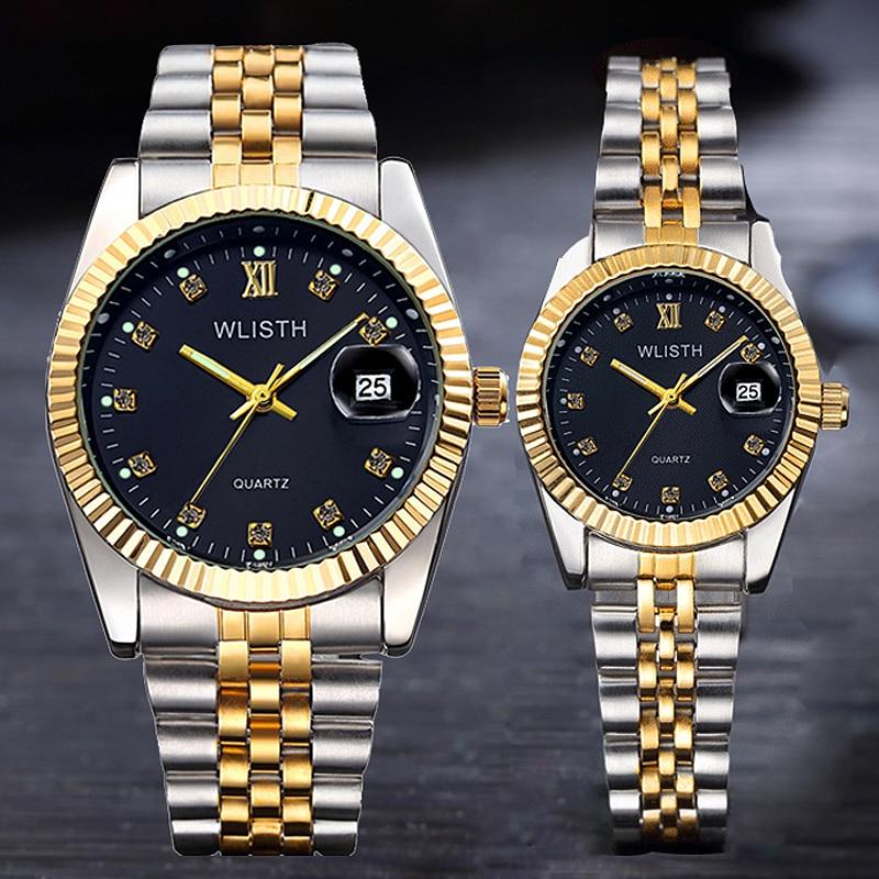 Couple Watch 2019 Mens Watches Top Brand Luxury Quartz Watch Women Clock Ladies Dress Wristwatch Fashion