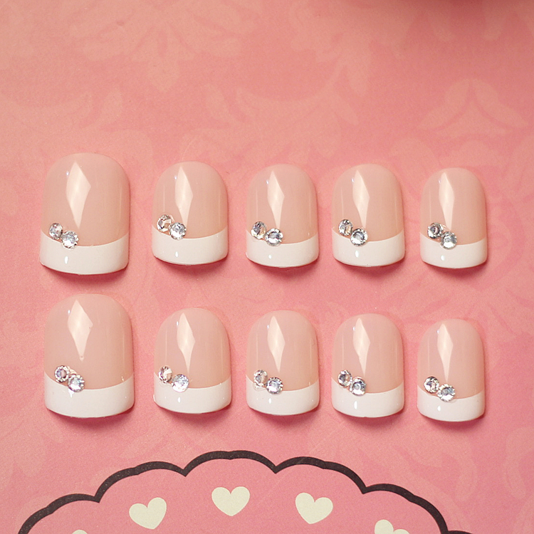 limited quantity new ol false nails set with glue french