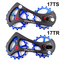 11 velocidade de cerâmica guia desviador traseiro de bicicleta de fibra de carbono roda da bicicleta Rolamento polias Jockey polia roda set peças de bicicleta