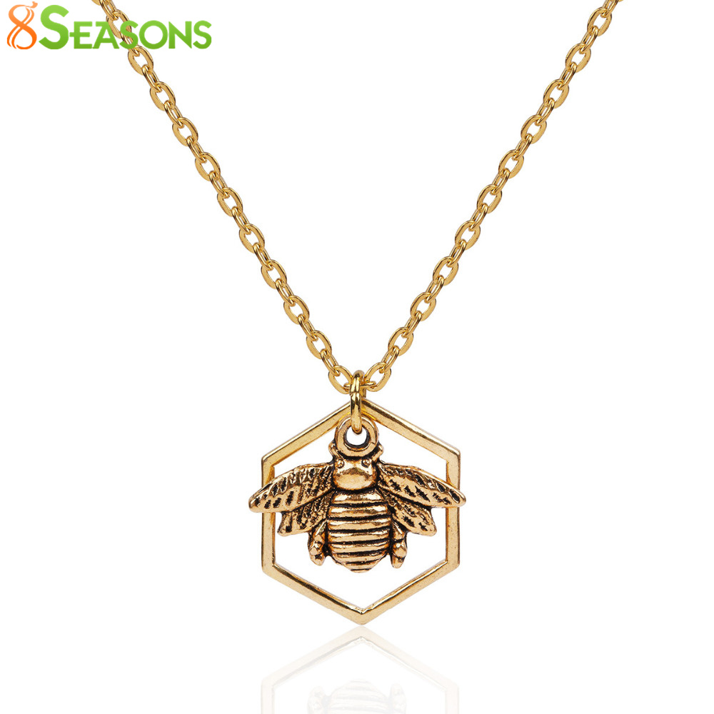 8SEASONS Women Fashion Jewelry Necklace Gold color & s