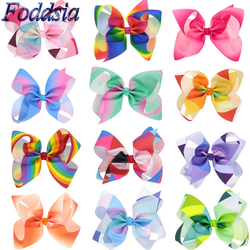 "20 Pcs//Lot Grosgrain 4/"" Alligator Solid Hair Bow Clips for Baby Girl Toddlers Ki"