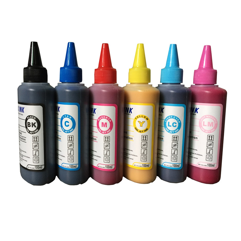 6 x 100ml /bottle Universal Sublimation Ink For Epson Printers Heat Transfer Ink Heat Press Sublimation Ink