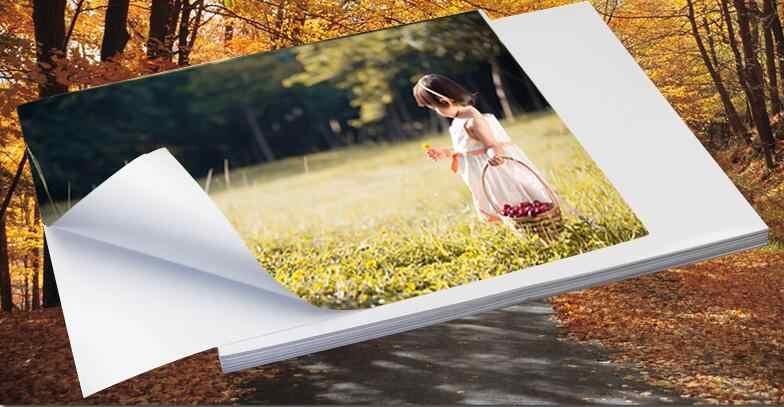 A4 белый глянцевый самоклеющийся Стикеры этикетка лист липкий Фотобумага для струйного принтера 2/10/30/50 листов