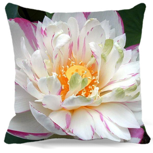 16 18 19 20 24 Square Cushion Cover Fashion 2017 Natural Pink White Lotus Home Decor Pillow Covers Car Sofa Seat 9 Style In From