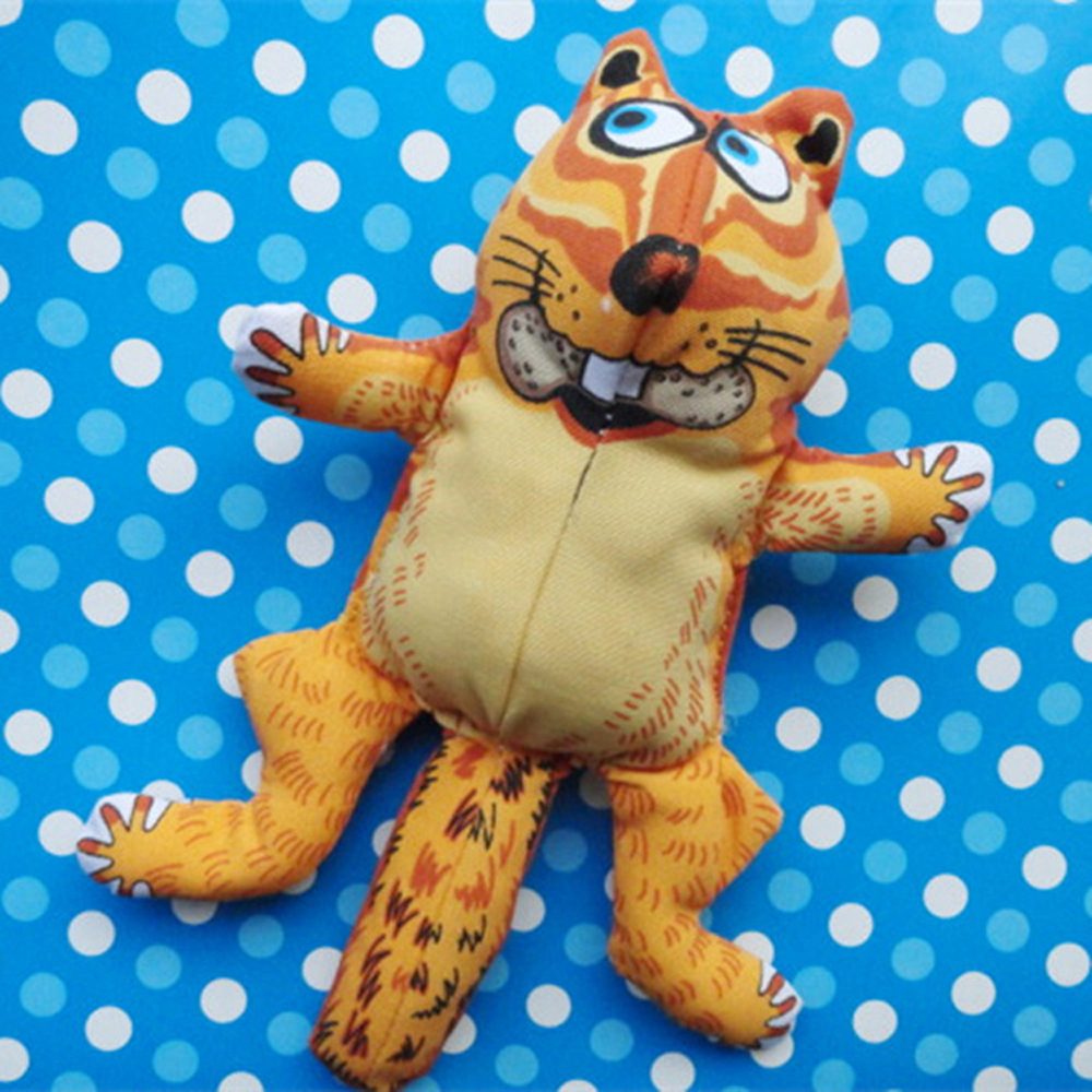 Fat Cat Squirrel Bite Dolls Doggy Chew Play Toys Durable Canvas Pet Dogs Puppy Quack Sound Squeaker Squeaky Toys Free Shipping