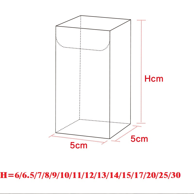 55H CM Transparent Waterproof Clear PVC Boxes Packaging Plastic Candy Box Storage Event&Party Supplies Wedding Gift Boxes (2)