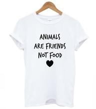 """""""ANIMALS ARE FRIENDS NOT FOOD"""" women shirt"""