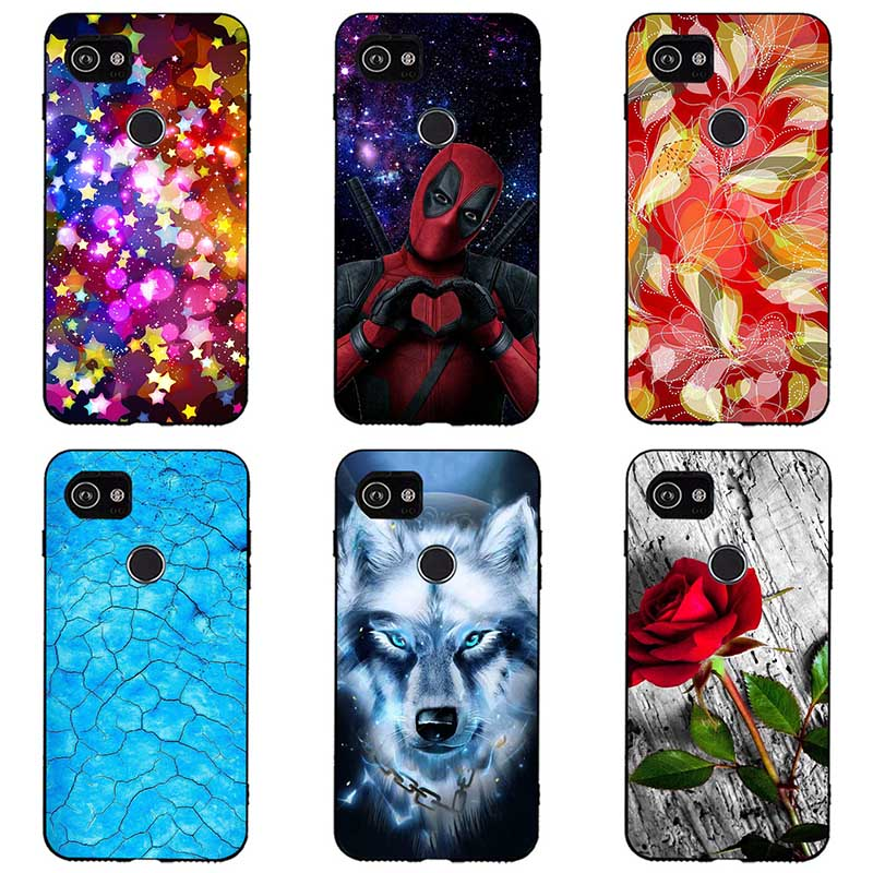 Colorful Painted Soft Silicone Cases For Google Pixel 3XL Animal Phone Cases Covers Soft Tpu For Google Pixel 3XL Cover Coque