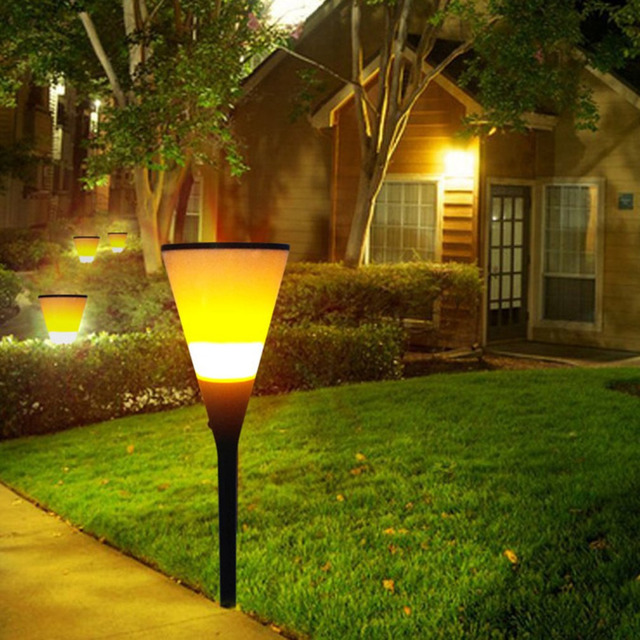 Solar flickering flame torch light waterproof outdoor pathways yard solar flickering flame torch light waterproof outdoor pathways yard garden lighting with ground stake workwithnaturefo