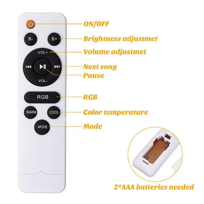 Умный светодиодный потолочный светильник RGB с регулируемой яркостью 60 Вт с управлением через Bluetooth и музыкой, современный светодиодный потолочный светильник для гостиной/спальни 220 В - 3