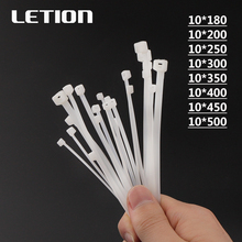 1 packet 100pcs 10*Various lengths Self-Locking Plastic Nylon Wire Zip Ties White Cable Ties Fasten Loop Cable Free Shipping 100pcs white self locking cable tie high quality nylon fasten zip wire wrap strap 2 5x100mm 2 5x150mm plastic