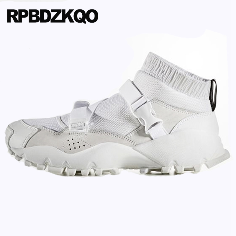 Designer Shoes China High Quality Female Flats Sneakers Chinese Round Toe Thick Sole Elastic Top White Spring Autumn Latest