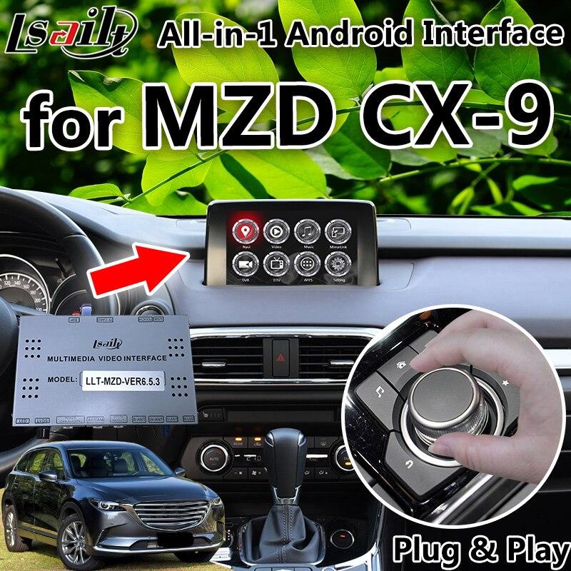 Все в 1 Plug & Play Android 6,0 7,1 8,0 gps навигатор для Mazda CX 9 с Mirrorlink, carplay, Яндекс, OEM Кнопка управления