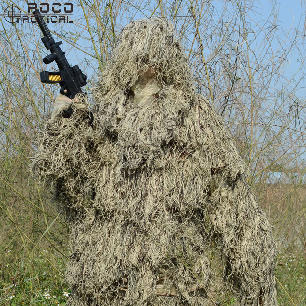 ФОТО BRAND NEW GHILLIE Yowie Hunting Sniper Ghillie Suit  Including Hooded Jacket, Long Pants & Storage Bag