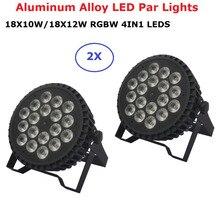 Алюминиевый корпус 18X12W / 18X10W RGBW водить 4in1 вело пар роскошные DMX Сид плоский свет DJ клуб освещение для продажи