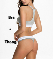 Thong Suit Bra Set Women Fitness Workout Sexy Underwear Women Bra Set Patchwork Sexy Lingerie