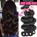 Brazilian Body Wave 3Bundles Natural Color Brazilian Virgin Hair Body Wave Cheap Body Wave Human Hair Bundles 7A Grade Body Wave