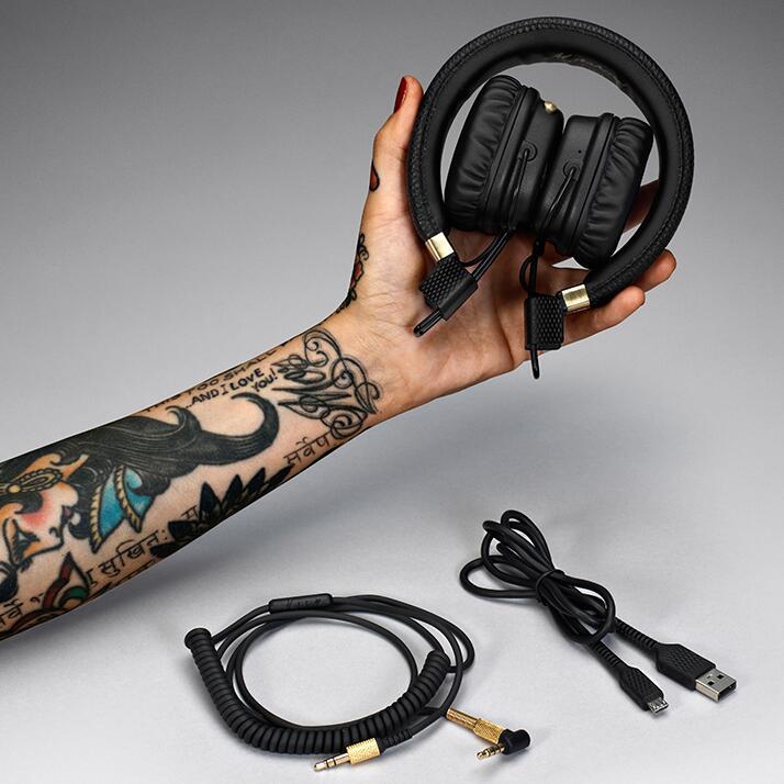 9488edd1d4b Marshall Major II Bluetooth Headphone Wireless Hifi Bass Headset Metal Rock  Earphone Noise Cancelling Headphones Over Ear Headphones with Microphone