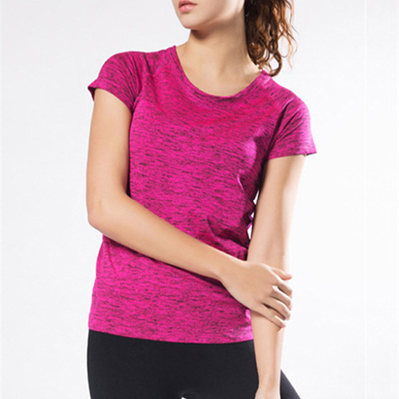 Professional Women Yoga Shirts Summer Gym Fitness Running Sports Compression Tights Quick Dry Tops Tees Bodybuilding