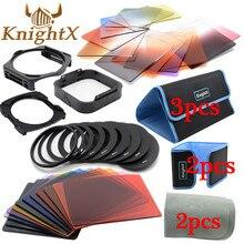 KnightX 24 Filter 9 Ring color cokin p series set For nikon canon d3200 d5200 d3300 1200d nd 650d d7200 lenses 49 52 58 67 77 mm