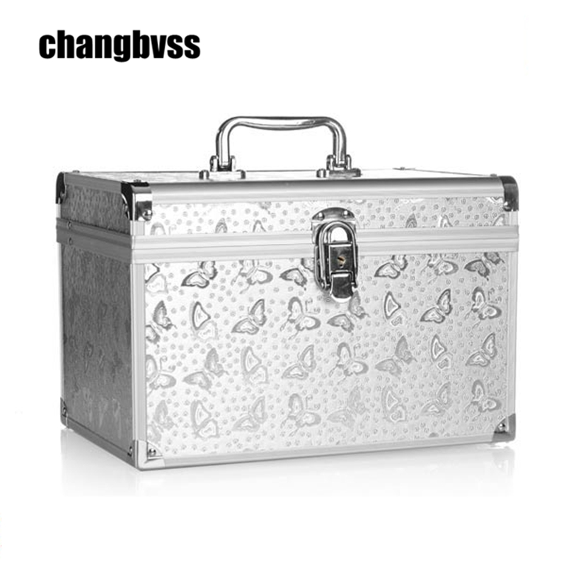 Silver Butterfly Pattern Professional Dresser Cosmetic Makeup Organizer  Double Layer Cosmetic Make up Storage Box Jewelry. Online Get Cheap Makeup Dresser  Aliexpress com   Alibaba Group