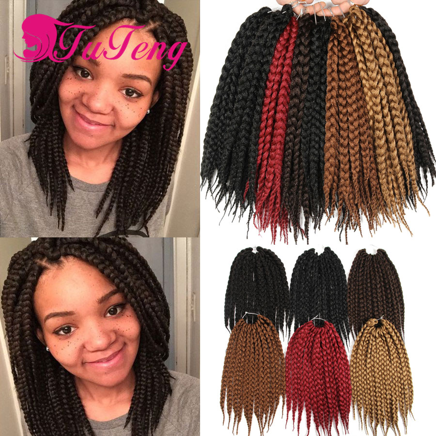 Crotchet box braids hair extensions 12 roots pack synthetic xpression braiding hair box braids - Crochet braids avec xpression ...
