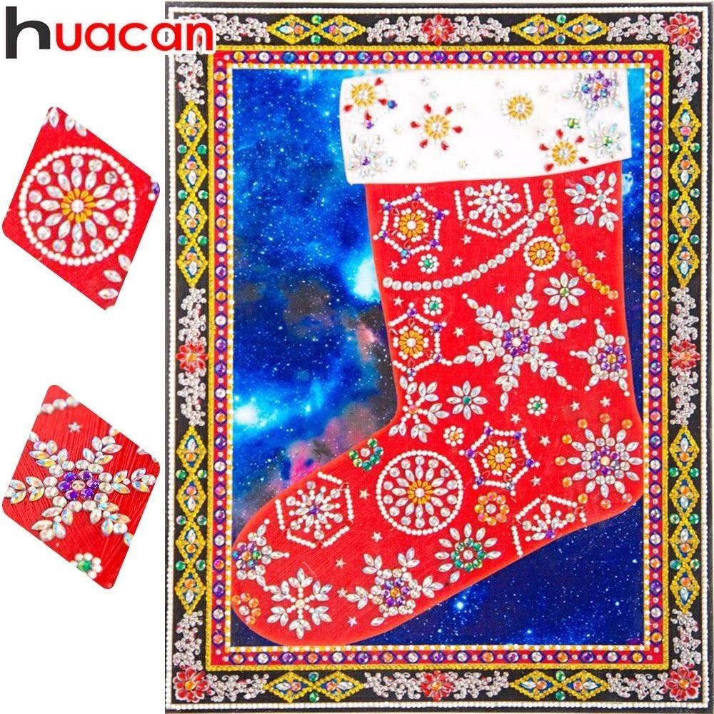 HUACAN Diamant Malerei Weihnachten Spezielle Förmigen Diamant Stickerei Cartoon Bild Von Strass Mosaik Wohnkultur 30x40 cm