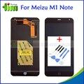 Оригинал Для Meizu M1 Note 5.5 дюймовый ЖК-Дисплей + Сенсорный Экран Планшета Ассамблея Для Мейлань Примечание Черный + Инструменты