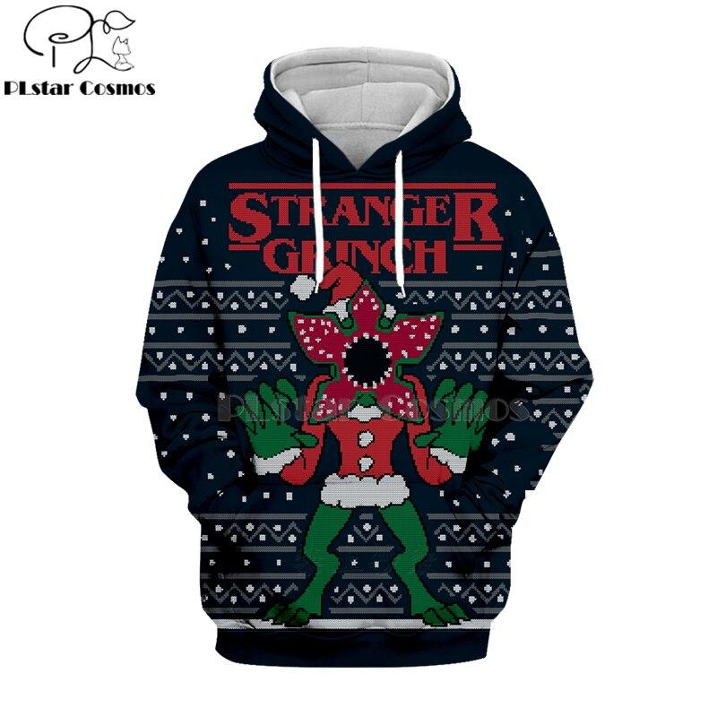 PLstar Cosmos 2019 Stranger Things 3d Hoodies Hooded Sweatshirt Shirt Autumn Winter Long Sleeve Halloween Christmas Streetwear