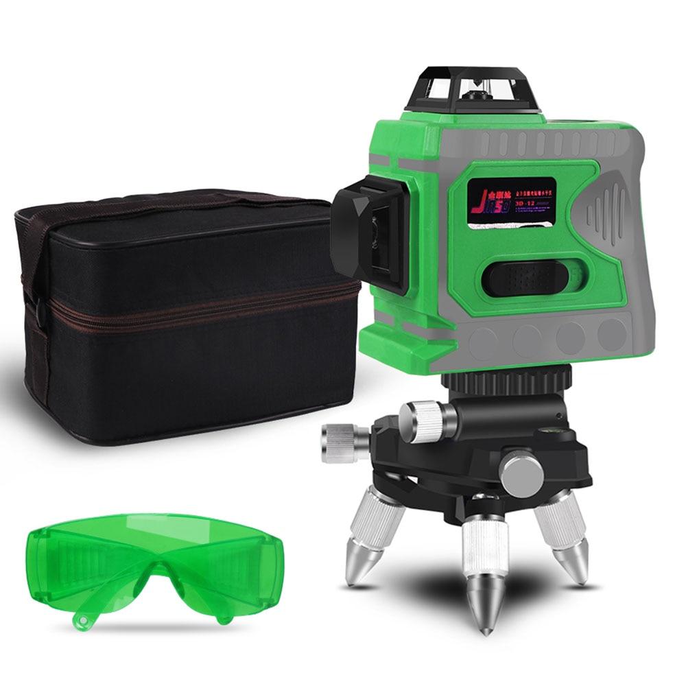 12 lignes Laser 3D niveau auto-nivelant 360 croix horizontale et verticale Super puissante ligne Laser vert