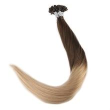 Pre Bonded Hair U Tip Extensions Balayage Colored Extensions 50g Remy Hair Fusion U Tip Hair Extensions Human Hair