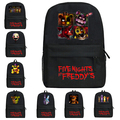 Five Nights at Freddy's FNAF Bonnie Freddy Foxy Backpack Schoolbackpack Gifts 45 x 29 x 13cm