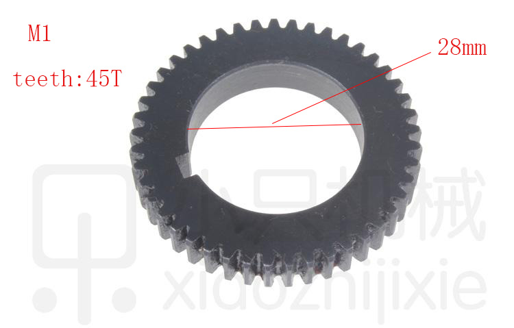 все цены на free shipping S/N CJ0618-016 T45 mini lathe gears , Metal Cutting Machine gears ,Mainshaft lathe gears M1 28mm Hole Diameter