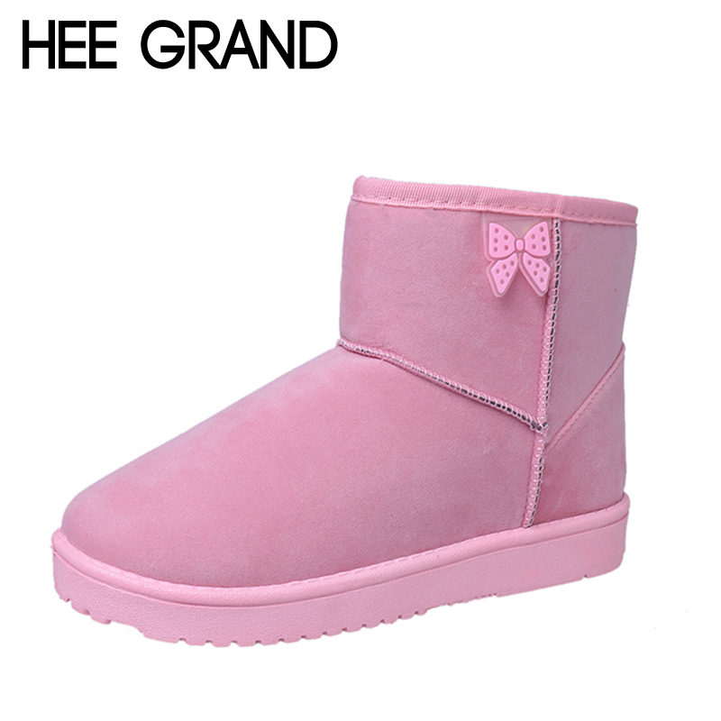 HEE GRAND 2017 New Winter Warm Ankle Snow Boots Faux Fur Creepers Casual Shoes Woman Slip on Platform Snow Boots XWX6071 hee grand bling winter snow boots waterproof silver shoes woman platform women ankle boots slip on flats casual creepers xwx5503
