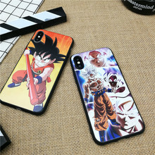 Anime Dragon Ball GOKU phone cover case for iphone 11 PRO X XS MAX XR 10 8 7 6 6S PLUS 3D matte Soft silicone coque fundas capa цена и фото