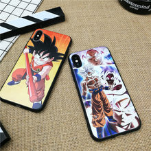 Anime Dragon Ball GOKU phone cover case for iphone X XS MAX XR 10 8 7 6 6S PLUS 3D matte Emboss Soft silicone coque fundas capa(China)