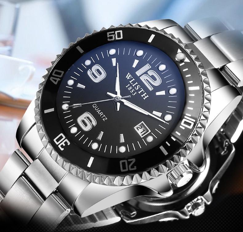 Famous Brand Role Luxury Men Watch Quartz Sport Watch Men Stainless Steel Wristwatch Male Clock Waterproof