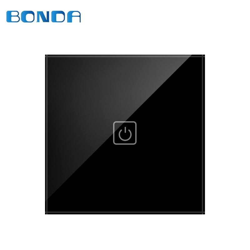 Bdnda D-601B Padrao DA UE Interruptor Inteligente de Remoto/Touch Light Touch 170-240 V Do Painel de Vidro Prova Dagua
