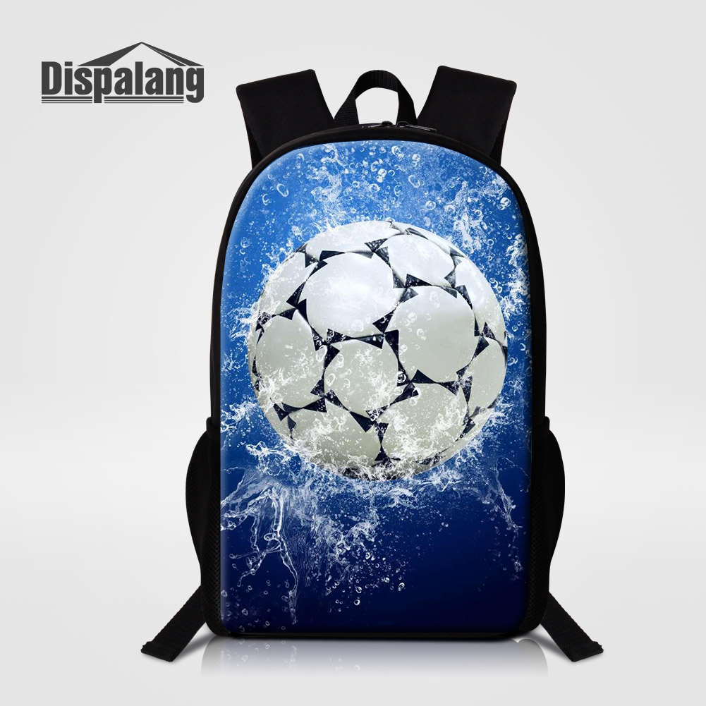 Dispalang 3D Printing Footballs Soccers Middle School Student Backpack Basketballs Mochila Escolar Children Shoulder Bags Rugzak