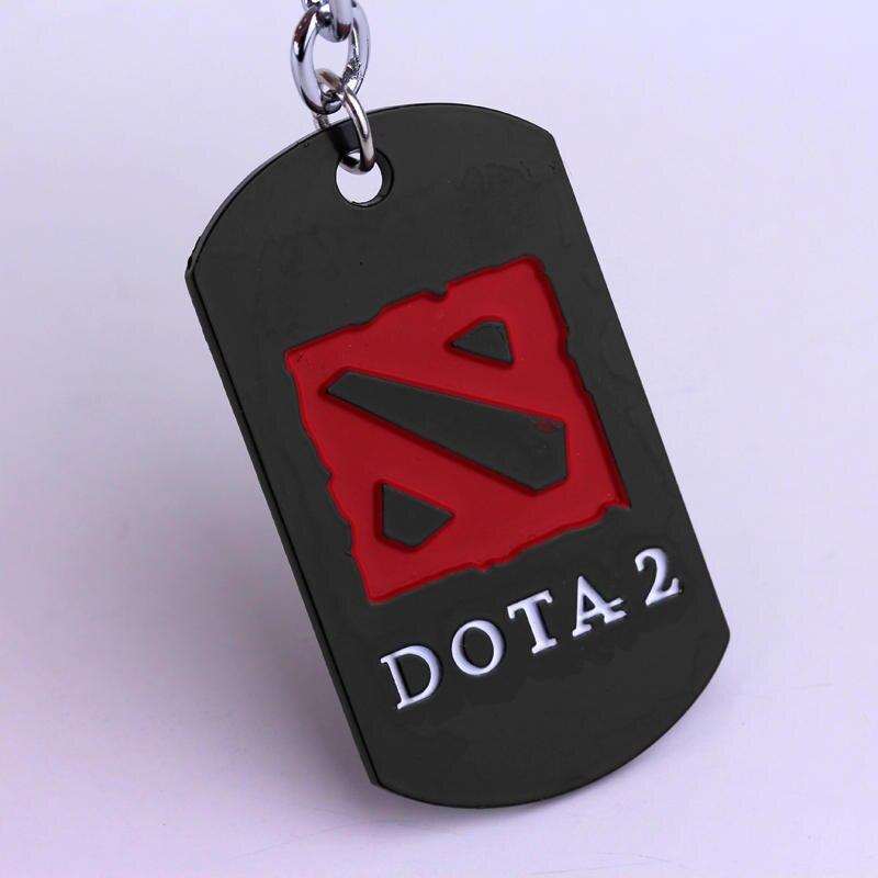 M2 Jewelry Klassiek online spel Dota 2 zwart sleutelhanger Populair ontwerp Game Fans Favoriete sleutelhanger Hoge kwaliteit