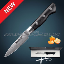 Huiwill 67 layers Japanese VG10 Damascus stainless steel kitchen 3.5″paring knife peeling knife vegetable knife with g10 handle