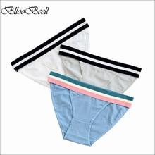 BllooBeell Cotton Womens Panties Underwear Sexy Briefs Wide Belt Girls for Women Low Rise Female Lingerie 3pieces/set