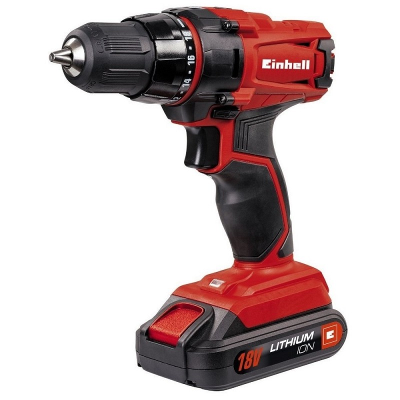 EINHELL 4513846-Drill Screwdriver To 18 V 1,5 Ah Lithium-Ion Battery 2 Velocities 38 Nm LED Light TC-CD 18-2
