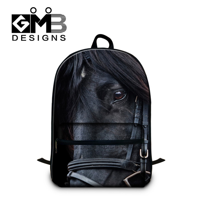 Teeenagers School Bags Horse Printing Backpacks For Cool Boys Traveling Bag Best Bookbags Children Element