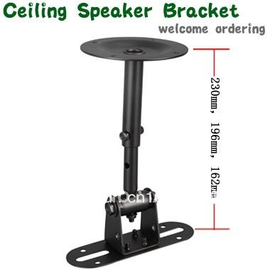 Free Shipping 2pcs/lot Peerless Universal Speaker Mount Sp-18a Black Speaker Metal Stand Bearing Weight12kg Low Price Speaker Bracket