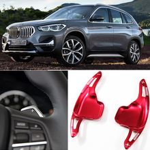 купить tommia 2pcs Steering Wheel Aluminum Shift Paddle Shifter Extension For BMW X1 2014-18 Car-styling дешево
