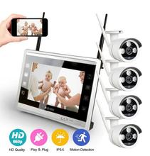4CH NVR WIFI CCTV Security Camera System 4PCS 720P HD Outdoor Wireless CCTV Kit Video Surveillance System P2P ONVIF