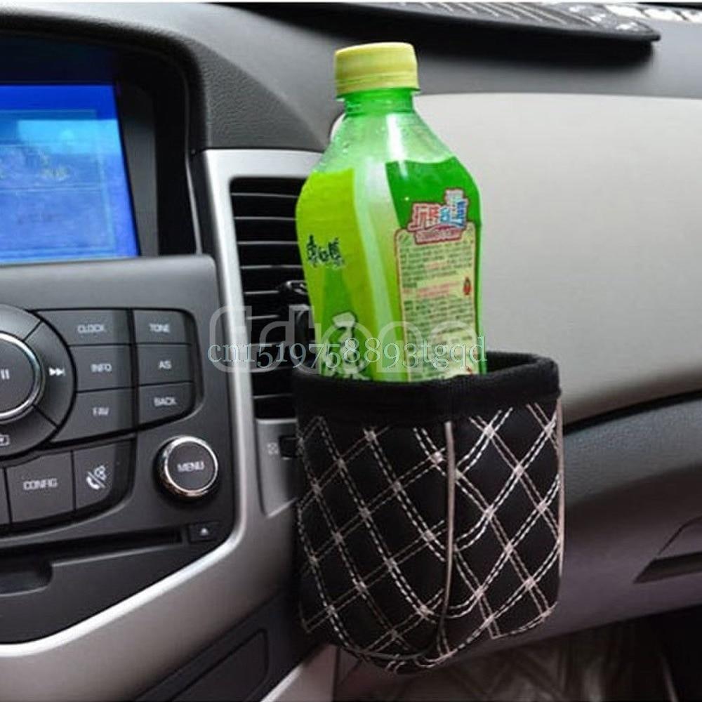 Car Air Vent Mobile Phone Mesh Holder Pocket Debris Storage Organizer Pouch Bag