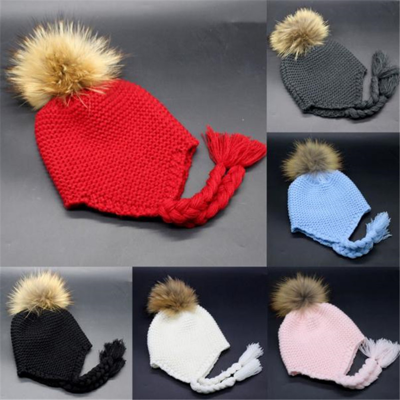 Feitong brand new winter soft knitted child hats Toddler Baby Earmuffs Knitted Warm Winter Rope HairyBoy Girl Cap Hat beanie waterproof men outdoor hiking boots autumn winter hunting boots mountain climbing men trekking shoes warm fur snow boots male