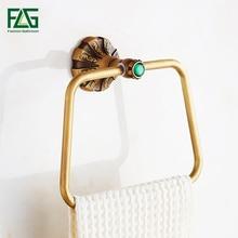 FLG кольца для полотенец Настенный Держатель для полотенца полотенце кольцо античный из твердой латуни конструкция бронзовая отделка оборудование для ванной G130-06A